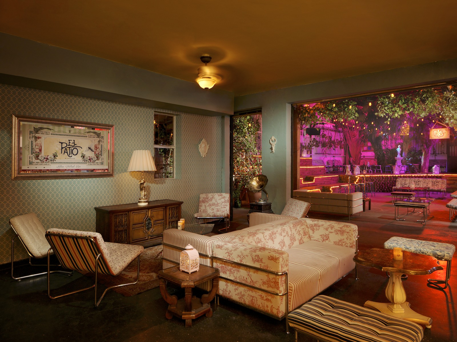 Living Room Bar Miami El Patio Restaurant Miami Antonio Cuellar Photography