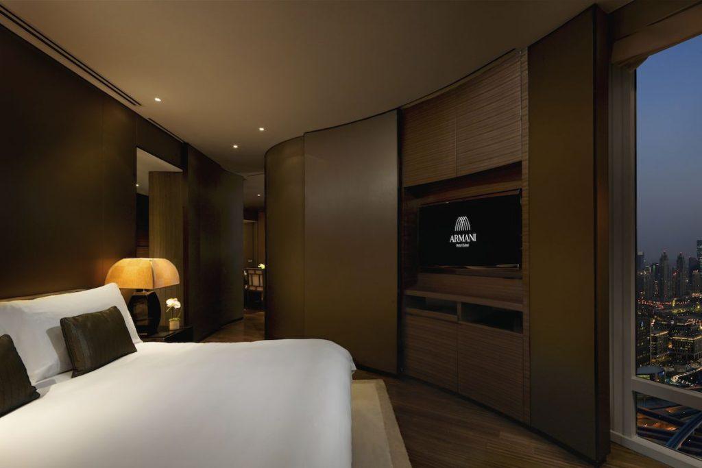 Armani Luxury hotel dubai bedroom