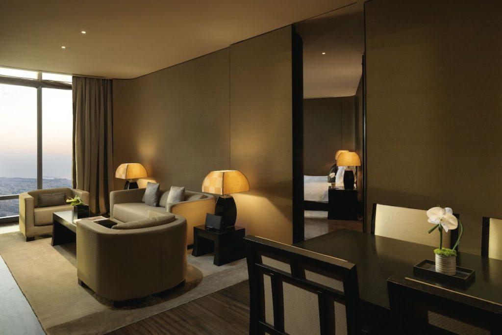 Armani Luxury hotel dubai suite 2