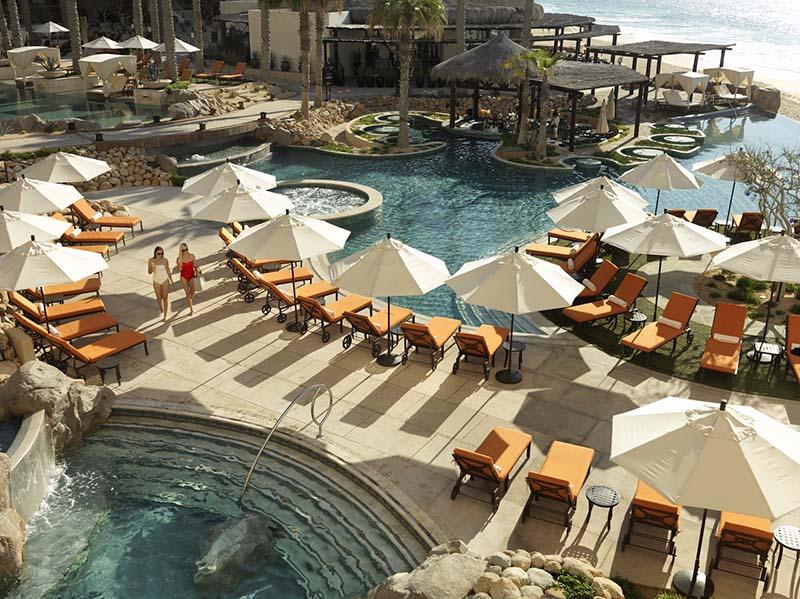 luxury resort hotel pool