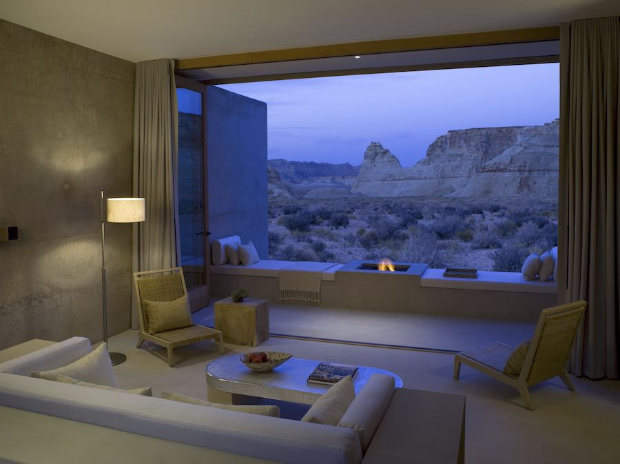 Evening Fire View - Photo courtesy of Amangiri