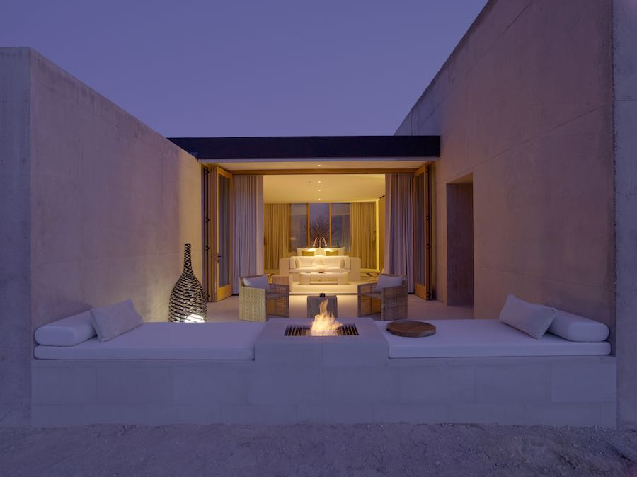Girijaala Suite Desert Lounge - Photo courtesy of Amangiri